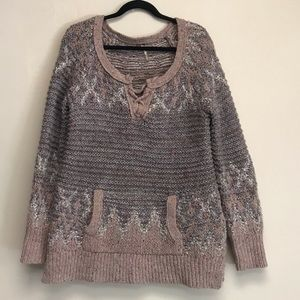 Free People Love Bug Pullover Cozy Knit Sweater